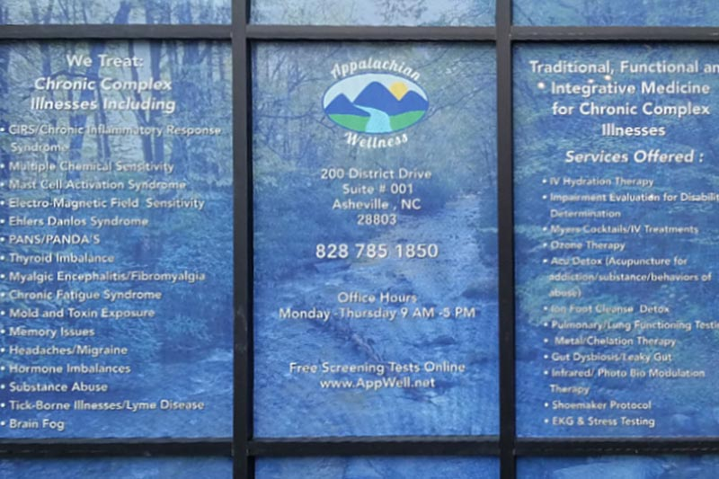 appalachian wellness center front window services